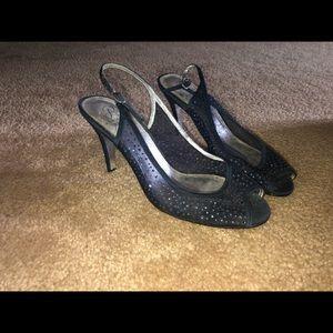 Blue Gemmed Heels